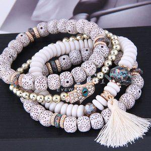 3/$20 New Beaded Tassel Bracelet Set